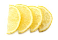 Healthy food. sliced lemon  on white background top view Stock Photography