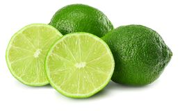 Healthy food. sliced lime isolated on white background stock photography