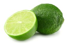 Healthy food. sliced lime isolated on white background royalty free stock photography