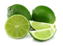 Healthy food. sliced lime isolated on white background royalty free stock images