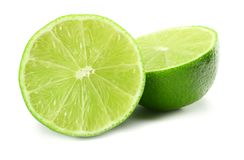 Healthy food. sliced lime isolated on white background top view stock photography