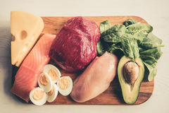 Healthy food for sports people Stock Photos