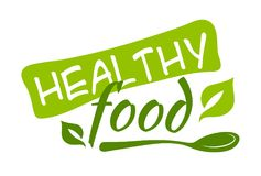 Healthy food sticker. Vector illustration for graphic and web design Royalty Free Stock Photography