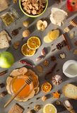 Healthy food on stone table royalty free stock images