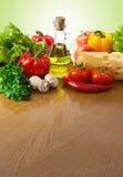 Healthy food on table stock photos