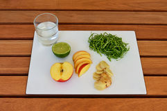 Healthy Food on the table. Healthy Food on a wood table Royalty Free Stock Image