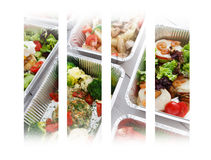 Healthy food take away in boxes Stock Images