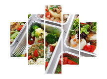 Healthy food take away in boxes Stock Photo