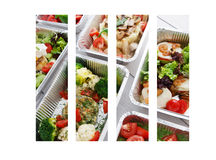 Healthy food take away in boxes Stock Photography