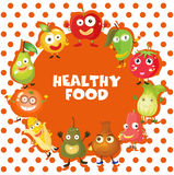 Healthy food theme with fruits and vegetables Royalty Free Stock Photography