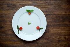 Healthy food theme: green peas on a plate with Stock Photography