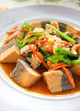 Healthy food with tofu Royalty Free Stock Photos
