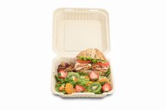 Healthy food on togo lunchbox Royalty Free Stock Photo