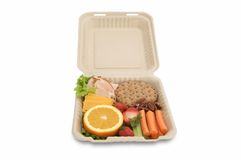Healthy food on togo lunchbox Stock Photo