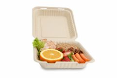 Healthy food on togo lunchbox Stock Photography