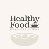 Healthy food typography and illustration Stock Images
