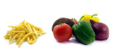 Healthy food, unhealthy food 2 Stock Image