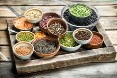 Healthy food. Variety of legumes stock photo