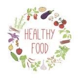 Healthy food vector concept.