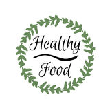 Healthy food vector frame Stock Image
