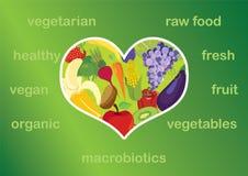 Healthy food vector illustration. I love healthy food. Healthy food is the foundation of your diet Stock Photo
