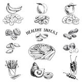 Healthy food. Vector illustration in sketch style royalty free illustration