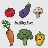 Healthy food vector illustration Stock Photos