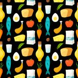 Healthy food vector seamless pattern Royalty Free Stock Images