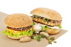 Healthy food vegan burgers Royalty Free Stock Image