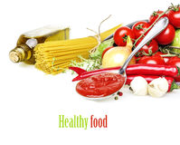 Healthy Food With Vegetable Royalty Free Stock Photos