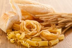 Carbohydrate. Healthy foods high in carbohydrate royalty free stock photo