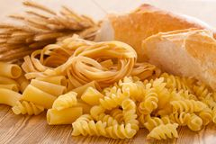 Carbohydrate. Healthy foods high in carbohydrate stock image