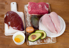 Healthy Foods High In Vitamin B3 (Niacin). Stock Photography