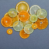 Healthy foods and medicine concept.  Various citrus fruits slice Stock Images