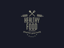 Healthy foods vector quote Royalty Free Stock Photos