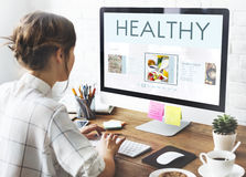 Healthy Foods Wellbeing Lifestyle Nutrition Concept royalty free stock photo