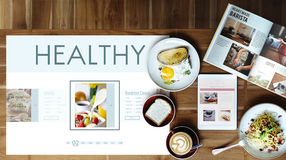 Healthy Foods Wellbeing Lifestyle Nutrition Concept. Healthy Food Lifestyle Nutrition Concept Royalty Free Stock Images