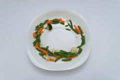 Healthy Framed Dish. A healthy frame ready to be filed with your favourite healthy main Royalty Free Stock Image