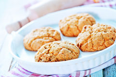 Healthy Fresh Baked Cookies Stock Photos