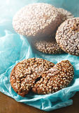 Healthy Fresh Baked Cookies with Sesame Stock Images