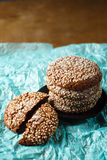 Healthy Fresh Baked Cookies with Sesame Royalty Free Stock Photo
