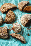 Healthy Fresh Baked Cookies with Sesame Stock Photo