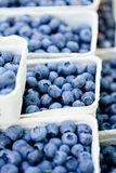 Healthy fresh blueberries macro closeup on market outdoor Royalty Free Stock Image