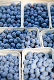 Healthy fresh blueberries macro closeup on market outdoor Stock Images