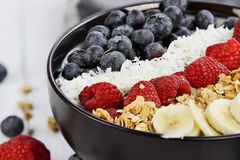 Healthy and Fresh Breakfast Buddha Bowl Stock Image
