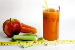 Carrot juice and vegetables stock photo