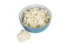 Healthy Fresh Cauliflower Rice Royalty Free Stock Photos
