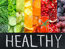 Healthy fresh color food concept Royalty Free Stock Image