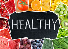 Healthy fresh color food Stock Photos