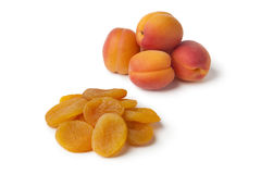 Healthy fresh and dried apricot fruit Royalty Free Stock Images